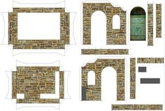 Creating A Medieval Stand Paper Model For Mini Figures - by Papermau Part I - == -  I am creating a little Medieval Stand Paper Model For Mini Figures, such as Playmobil and others, in 1/24 scale. In this post you can see the development of the model, using Sketchup program to design and apply textures. More soon.