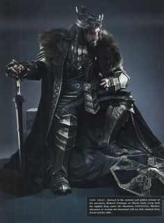 Thorin Oakenshield in full armor - 27 New Images from TBotFA Visual Companion and Official Guide