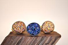 Druzy crystal ring. Drusy ring. Quartz ring. | Etsy.com