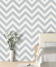 How adorable would this be in a nursery!?! Hmm...for next time maybe?? Dolphin Zigzag Wallpaper Decal by Swag Paper on #zulily today!
