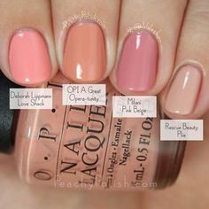 OPI A Great Opera-tunity Comparison Fall 2015 Venice Collection Peachy Polish Love Nails, How To Do Nails, Pretty Nails, Colorful Nail Designs, Nail Art Designs, Ten Nails, Peach Nails, Manicure Y Pedicure, Chrome Nails