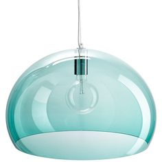 Kartell Sage FL/Y Pendant ($350) ❤ liked on Polyvore featuring home, lighting, ceiling lights, furniture, home decor, lamps, bubble lights, bubble lamp, sphere lighting and bubble light