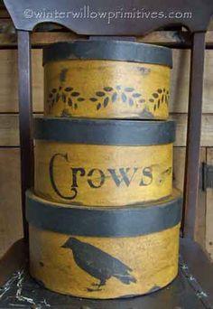 Primitive Crows Set of 3. I love crow stuff!
