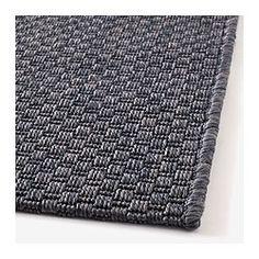 MORUM Tæppe, fladtvævet, mørkegrå indendørs/udendørs mørkegrå - indendørs/udendørs mørkegrå - 80x200 cm - IKEA