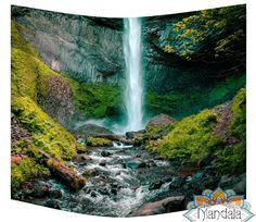 This precious tapestry is for you: Waterfall Path Wa...  It's waiting for you here: http://mandala-the-wall-tapestry-cave.com/products/waterfall-path-wall-tapestry?utm_campaign=social_autopilot&utm_source=pin&utm_medium=pin