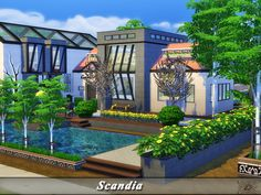 Luxury house for your Sims.  Found in TSR Category 'Sims 4 Residential Lots'
