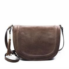 9cde26b7c2 AMELIE GALANTI large saddle bag crossbody bags for women brown flap purses  with Tassel over the shoulder long strap
