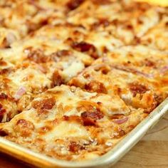 Barbecue Chicken Pizza with Bacon