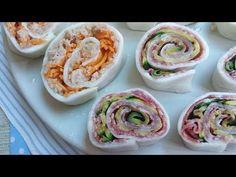 Girelle di mozzarella 2 idee golose - YouTube Mozzarella, Finger Food, Sushi, Ethnic Recipes, Cooking, Youtube, Home, Kitchen, Finger Foods