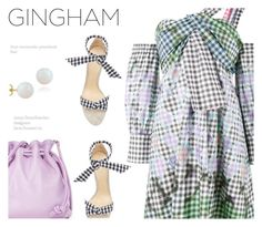 """Check Republic: Gingham Dress"" by annbaker ❤ liked on Polyvore featuring Peter Pilotto, Alexandre Birman, Clare V., Pori and gingham"