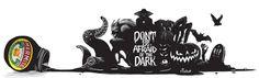 Marmite- Don't be Afraid of the Dark 2012 by Machine Agency , via Behance