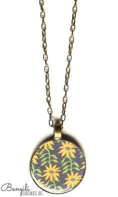 Sunflowers Mkufu Necklace
