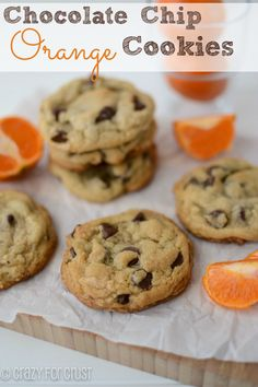 Chocolate Chip Orange Cookies from @Crazy for Crust  guest post for Chef in Training.... These sound like a fantastic combo of flavors!