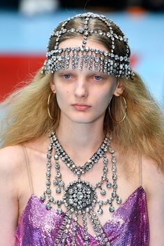 These Are The Accessories Everyone Is Talking About From The Fall 2018 Shows CRYSTAL HEADPIECE at Gucci