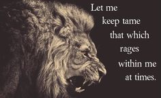 I\'m not sure who the lion image belongs to, but I put the quote in there