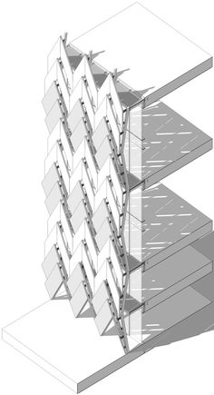 Hungarian Point Collaboration with NAMU Architects Building Skin, Building Front, Building Facade, Kinetic Architecture, Architecture Drawings, Facade Architecture, Colour Architecture, Cladding Design, Wall Cladding