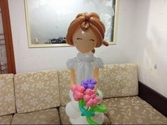 changsunny氣球 大型新娘 160公分 bride balloon decoration part1 - YouTube