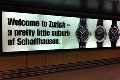 IWC Advertising found at Zurich Airport