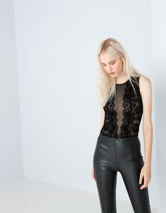 Discover this and many more items in Bershka with new products every week Girl Outfits, Casual Outfits, Short Playsuit, Lace Bodysuit, Rock Style, Hong Kong, Cool Girl, United Kingdom, Fashion Beauty