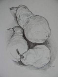 Pear Still Life ORIGINAL SKETCH by YeuxPaint on Etsy, $25.00