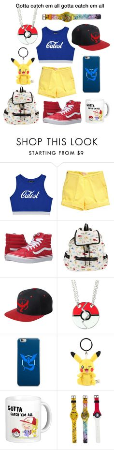 """Pokemon"" by brooklynjadetoni ❤ liked on Polyvore featuring Vans, LeSportsac and Valor"