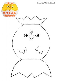 Malvorlagen für Kinder Here you can print out the Easter chick coloring page for free. You can find Autism Activities, Easter Activities, Craft Activities, Preschool Crafts, Mermaid Invitations, Arts And Crafts, Paper Crafts, Easter Crafts For Kids, Spring Crafts