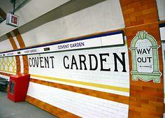 Covent Garden station emergency cabinet bottom left - All For Garden Covent Garden Station, Euston Station, London Underground Stations, Metro Subway, Paris Metro, Metro Tiles, U Bahn, Metro Station, Train Station