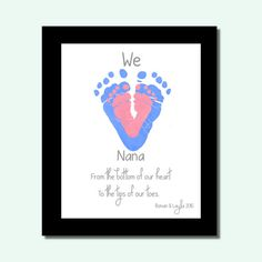 Christmas Gift from Grandkids Baby by PerfectLittlePrints on Etsy