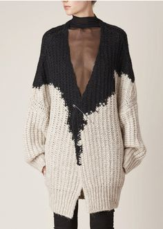 Ann Demeulemeester Nina Knit (Black/Beige)