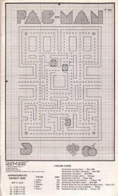 Pac-Man cross stitch patterns