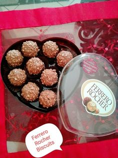 Ferrero Rocher Biscuits recipe by Ruhana Ebrahim posted on 26 Feb 2018 . Recipe has a rating of by 1 members and the recipe belongs in the Biscuits & Pastries recipes category Eid Biscuits, Eggless Biscuits, Biscuit Cookies, Biscuit Recipe, Chip Cookies, Chocolate Sugar Cookies, Chocolate Biscuits, Pastry Recipes, Cookie Recipes