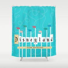 Park Entrance | Disney inspired Shower Curtain Disney Celebration Village, Disney Home, Disney Dream, Disney Shower Curtain, Shower Curtains, Disney Bathroom, Disneyland Park, Dreams Do Come True, Moving Out