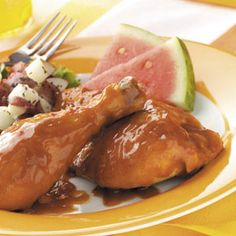 Slow 'n' Easy Barbecued Chicken Slow Cooker Recipe from Taste of Home