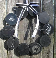 The Original Hockey Wreath without Letter by BabyToesbyChristy, $40.00