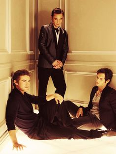 The boys... Dan, Nate and Chuck.  Gossip Girl.