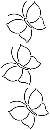Quilt Stencil Butterfly Border 4