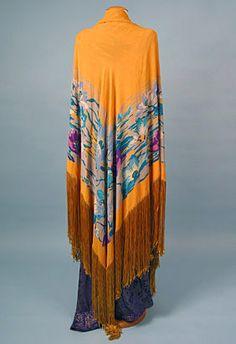 Printed Silk Shawl, 1920s<br /> Session 3 - Lot 857 - $150.00