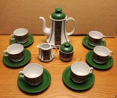 Vintage Tea Set  Mid Century Modern Tea by campeauscollectables