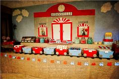 amazing VINTAGE TRAIN STATION 3RD BIRTHDAY PARTY