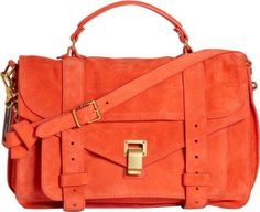 Love this bag in the coral color- always stylish and the shape is classic