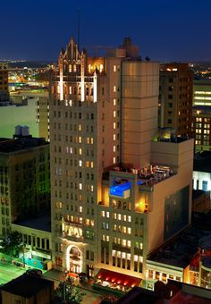 Joule Hotel - Downtown Dallas, walking distance to Dallas Arts District. 1920's landmark building. Visual masterpieces from designer Adam D. Tihany, old vintage/new contemporary design, extensive artwork, 24-hour room service, late night lounge, free car service, bathroom walls frosted glass, geared towards couples, not suited for families, trendy rooms – large HDTV's and free Wi-Fi, popular most talked about heated pool, a luxurious hotel close to everything a vacationer would need.
