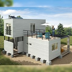 Building A Container Home, Container Buildings, Container Architecture, Container Shop, Container Cabin, Container House Design, Modern Tiny House, Tiny House Cabin, Modern House Plans