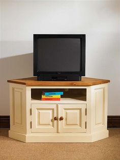 Mottisfont Painted Corner TV Unit With 2 Doors