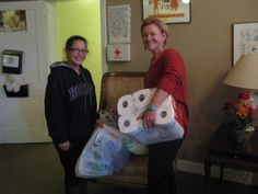 Bridgette Jernigan (pictured left), and a some of her College of Charleston friends donated toiletries and other supplies listed on our wish list as part of a Psychology class community impact project. Posing with Bridgette on the right is Associate VP of Development Kim Brown. #givingback