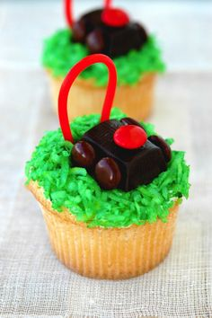 Lawnmower Cupcakes