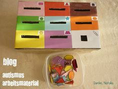 Great blog about autism! LOTS of amazing tasks! Autismus Arbeitsmaterial