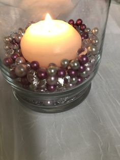 Lilac And Berry Pink Pearls, Diamond Confetti Vase Fillers 500pc Small Pearls No Holes