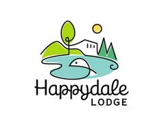 Logo for a cabin lodge in Southeast Ohio. There is a lake for fishing and a wooded area for hunting by Studioz