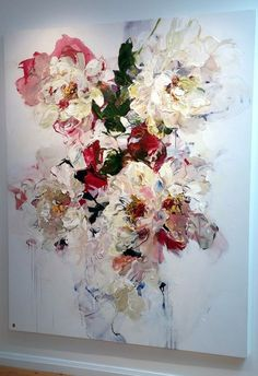 Bobbie Burgers floral painting at Bau-Xi Gallery Wow Art, Arte Floral, Abstract Flowers, Painting Inspiration, Painting & Drawing, Flower Art, Amazing Art, Photo Art, Art Drawings