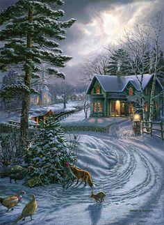 Snowy Christmas Sene